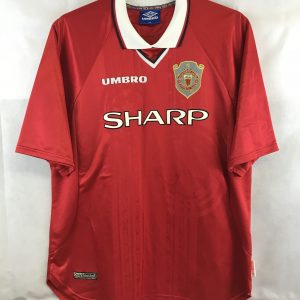 288bf8fcc23 Manchester United CL Football Shirt 1997 00 Adults XXL Umbro