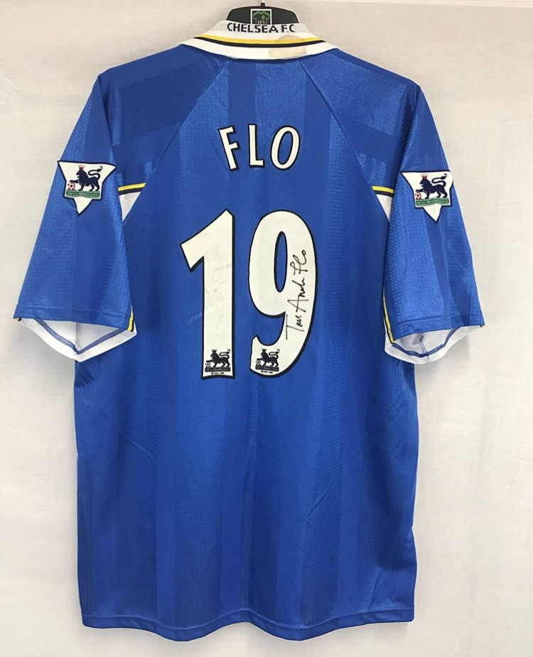Chelsea Player Issue Tore Andre Flo 19 Football Shirt 1997 99 Adults ... e213c84a9