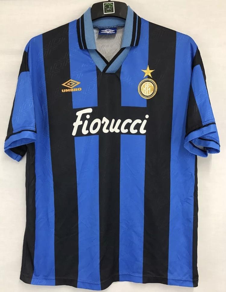 a0b11687a Inter Milan Football Shirt 1994/95 Adults Large Umbro – Historic Football  Shirts