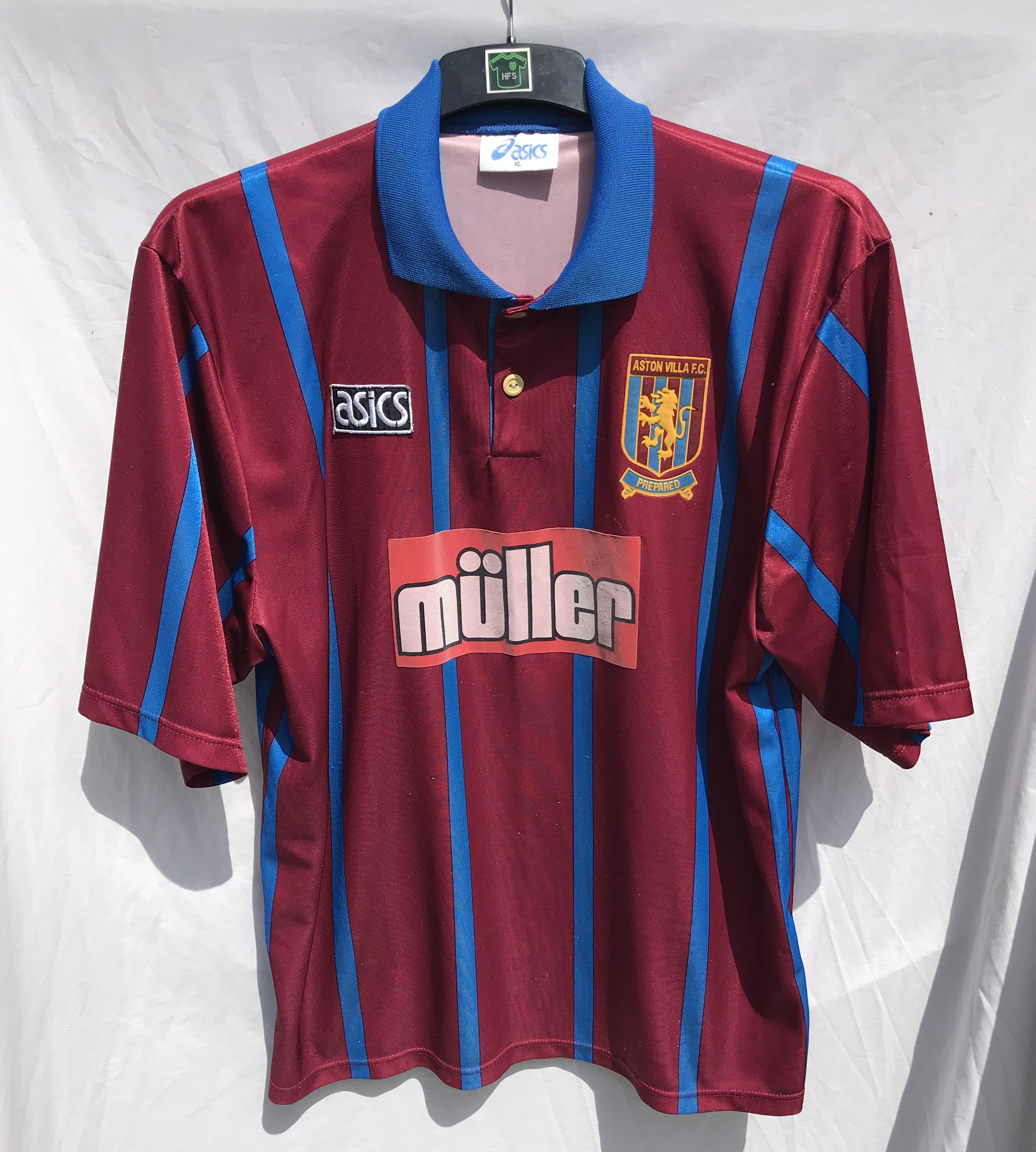 reputable site d5197 d79b1 Aston Villa Football Shirt 1993/95 Adults XL Asics ...