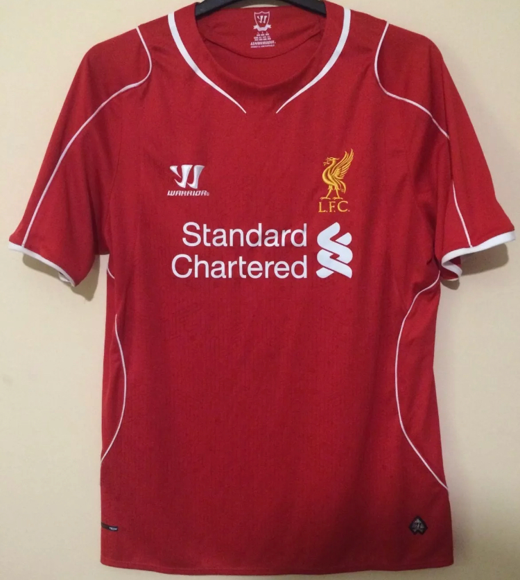 the latest ce671 5ca44 Liverpool Football Shirt 2014/15 Adults Large Warrior