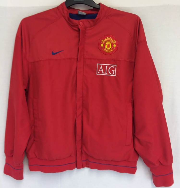 uk availability 11700 13284 Manchester United Line Up Football Jacket 2008/09 Adults Medium Nike