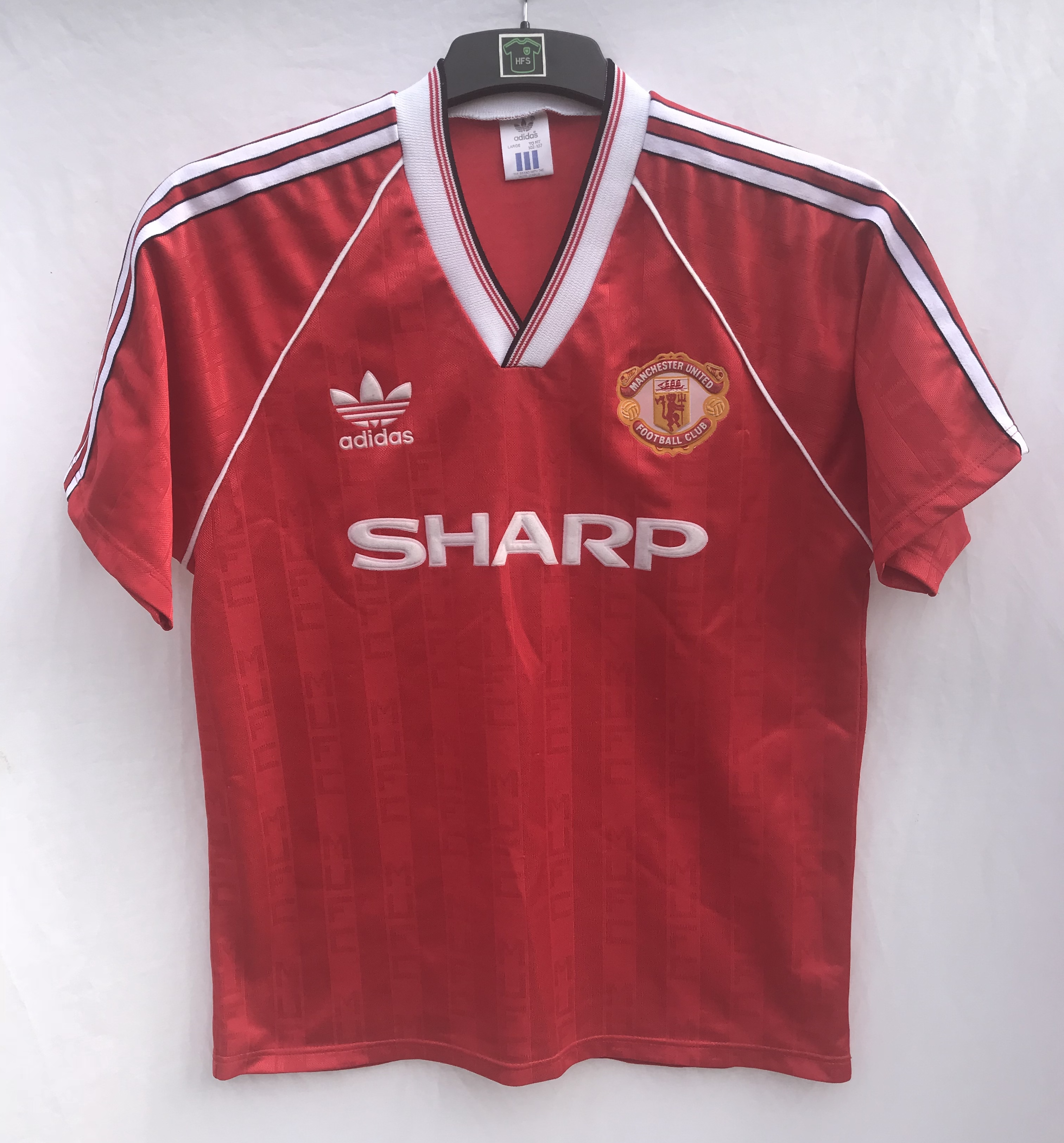 827a47766d1 Manchester United Home Football Shirt 1988 90 Adults Large Adidas. 🔍.  instock