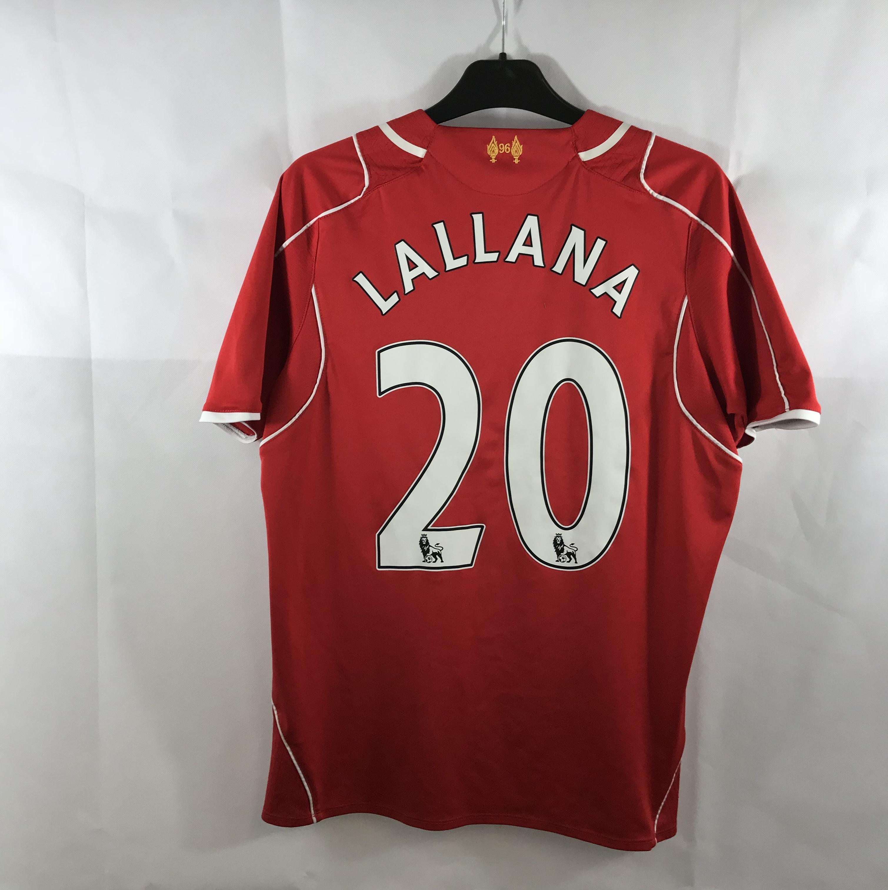 save off 3b0b3 fe8ed Liverpool Lallana 20 Home Football Shirt 2014/15 Adults Small Warrior