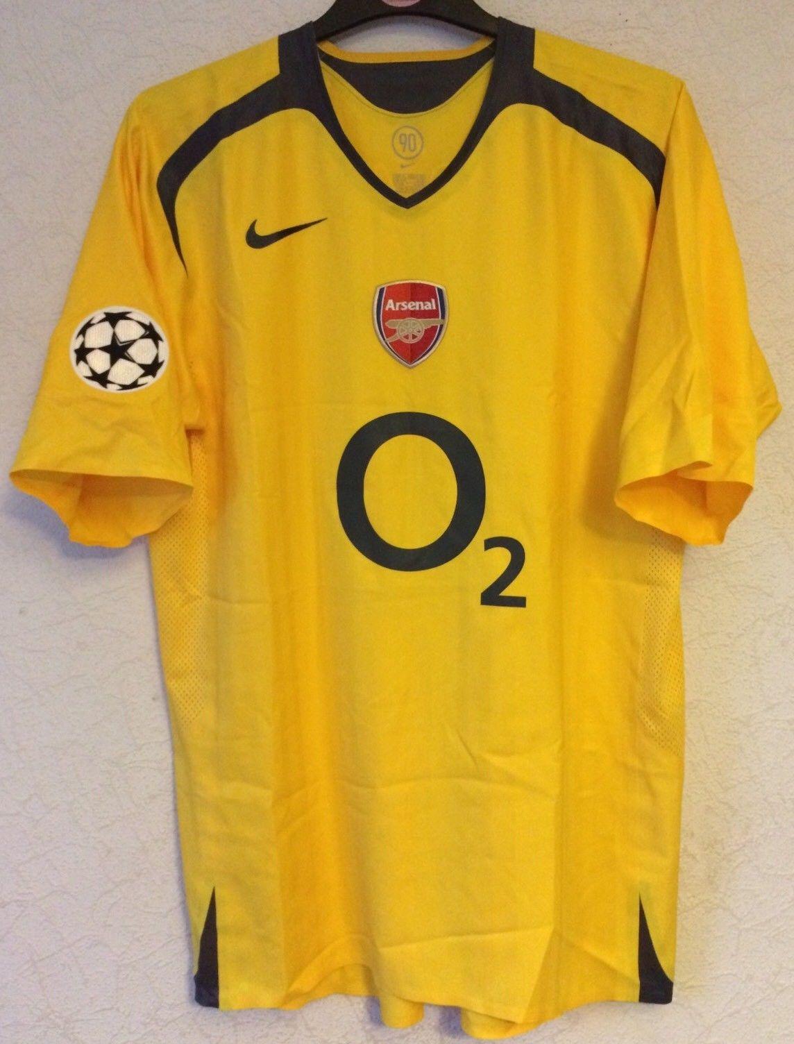 reputable site 17b31 9addc Arsenal Player Issue Emmanuel Adebayor 25 Football Shirt 2005/06 Adults XL  Nike