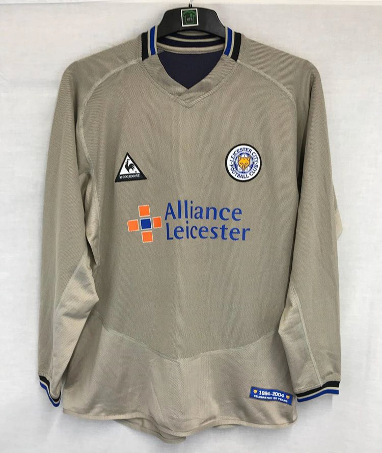 Leicester City 120 Years L S Third Football Shirt 2004 05 Adults Large Le Coq Sportif A60 Historic Football Shirts