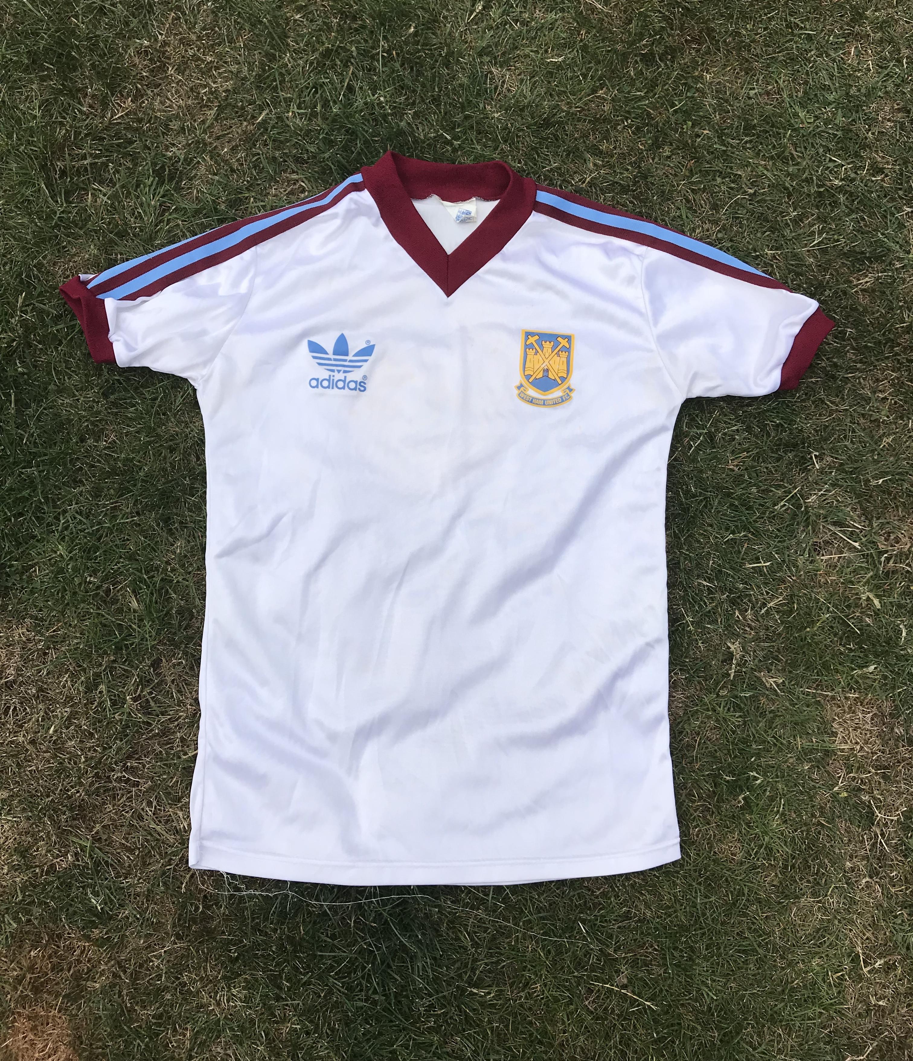 online store ab416 15f63 West Ham United Alan Devonshire 6 Football Shirt 1980/83 Children's Youth  Adidas