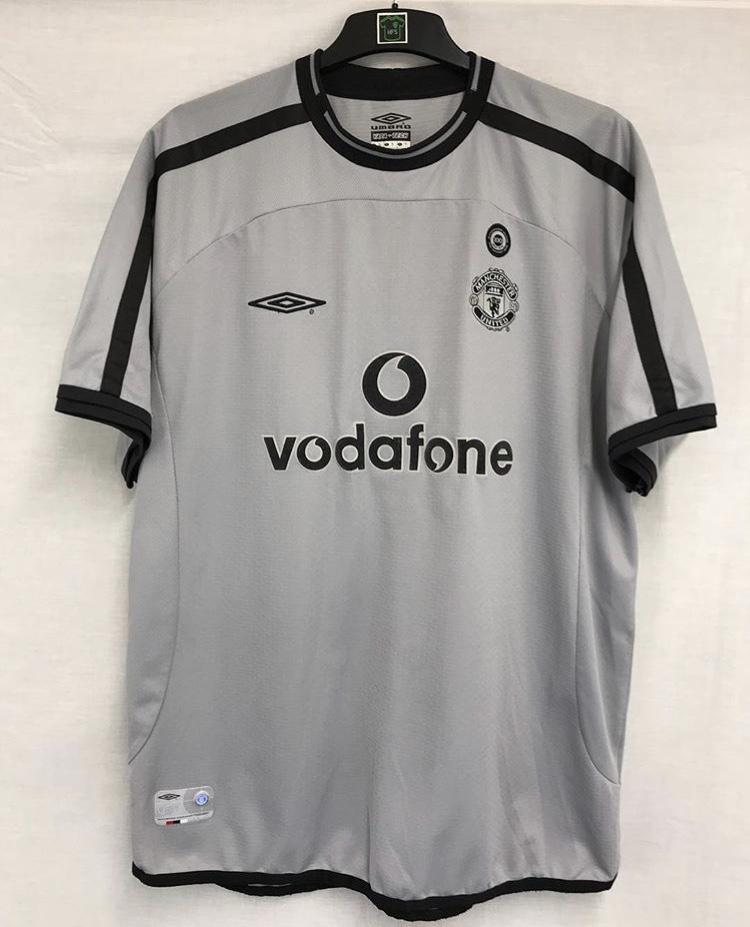 Manchester United Centenary Gk Football Shirt 2001 02 Adults Xl Umbro A521 Historic Football Shirts