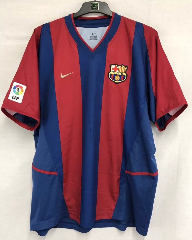 4638b5e79b8 Barcelona Football Shirt 2002 03 Adults XL Nike – Historic Football ...