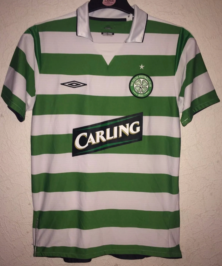 sports shoes f4a70 37a45 Celtic Football Shirt 2004/05 Adults Small Umbro
