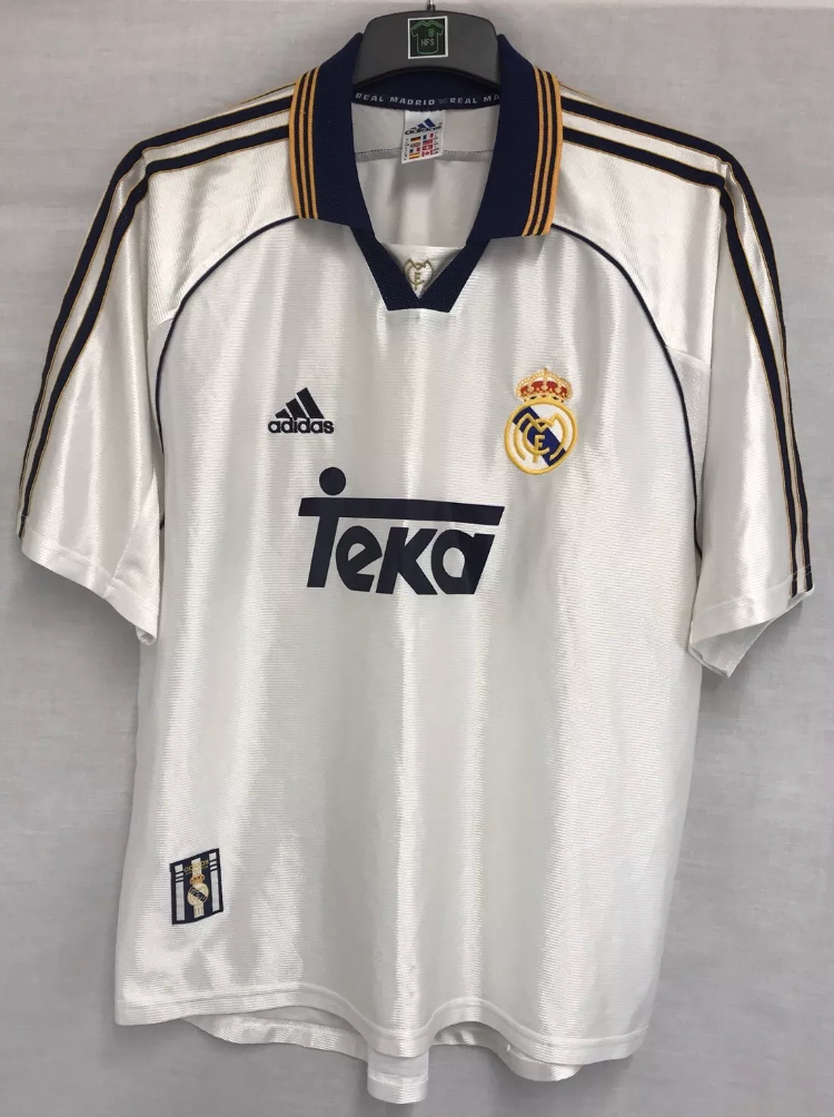 3b165dbb2ef Real Madrid Football Shirt 1998 00 Adults XL Adidas – Historic ...