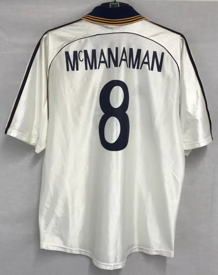 51e9a6474f4 Real Madrid Steve Mcmanaman 8 Football Shirt 1998 00 Adults Large Adidas.  🔍. instock