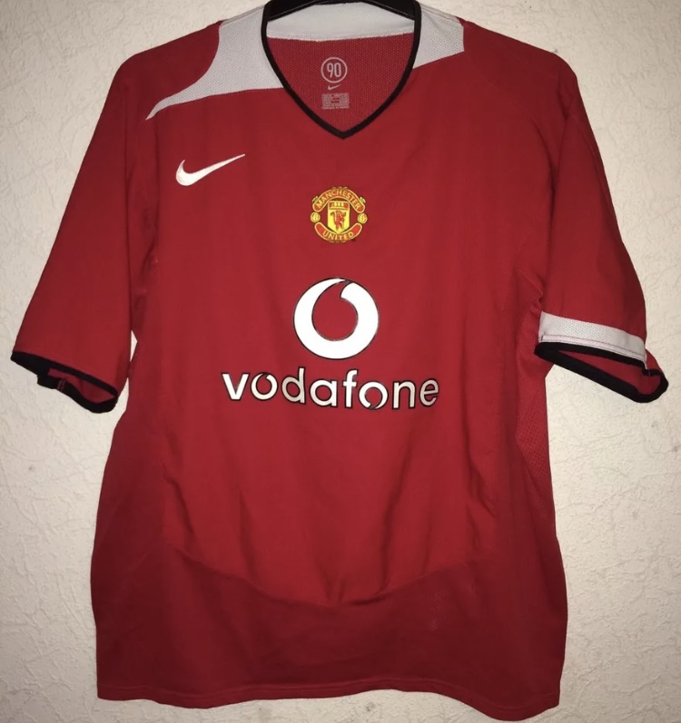 4d95293758b Manchester United Football Shirt 2004 06 Adults XL Nike – Historic ...