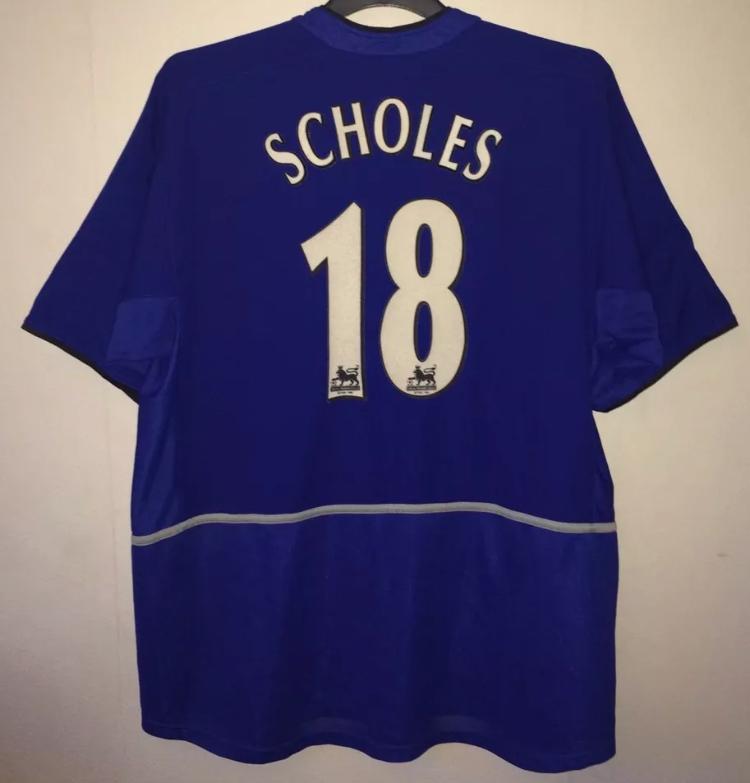 8777da416 Manchester United Paul Scholes 18 Football Shirt 2002/03 Adults XL ...