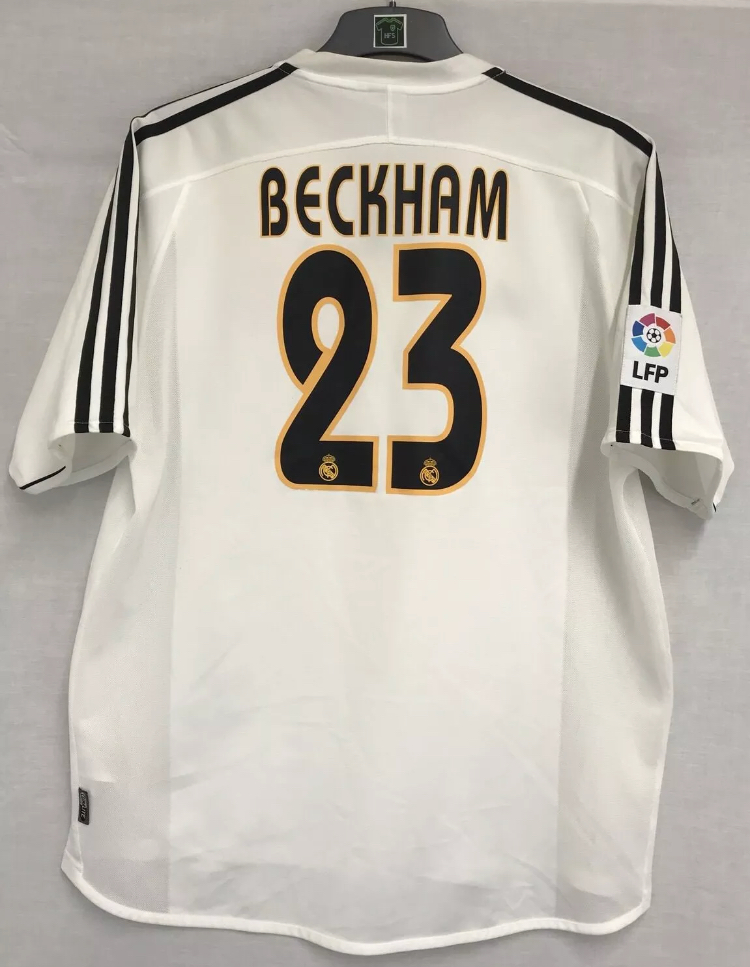 more photos 8cf57 14de4 Real Madrid David Beckham 23 Football Shirt 2003/04 Adults XL Adidas