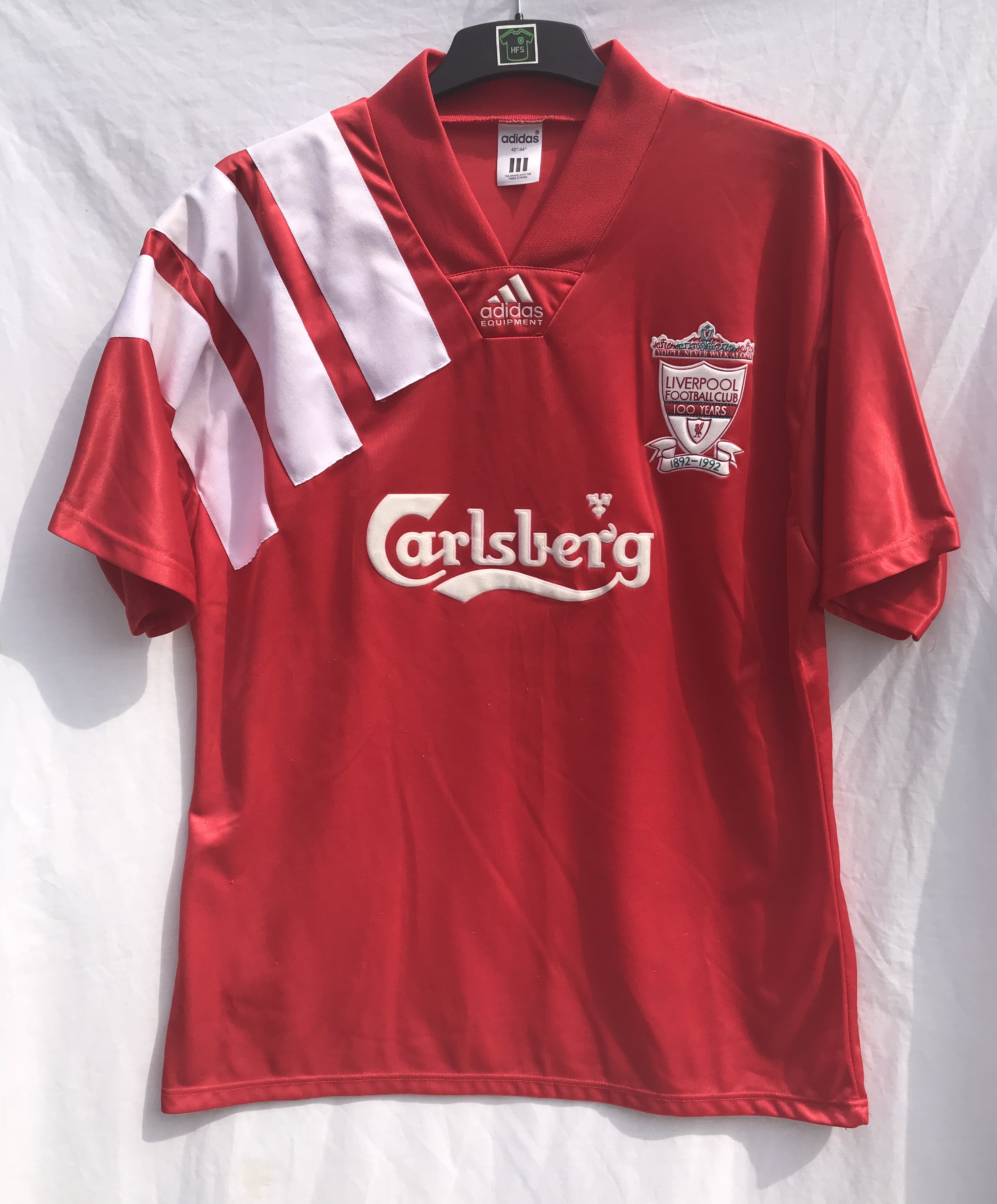 watch 16f88 3a47d Liverpool Centenary Football Shirt 1992/93 Adults Large Adidas