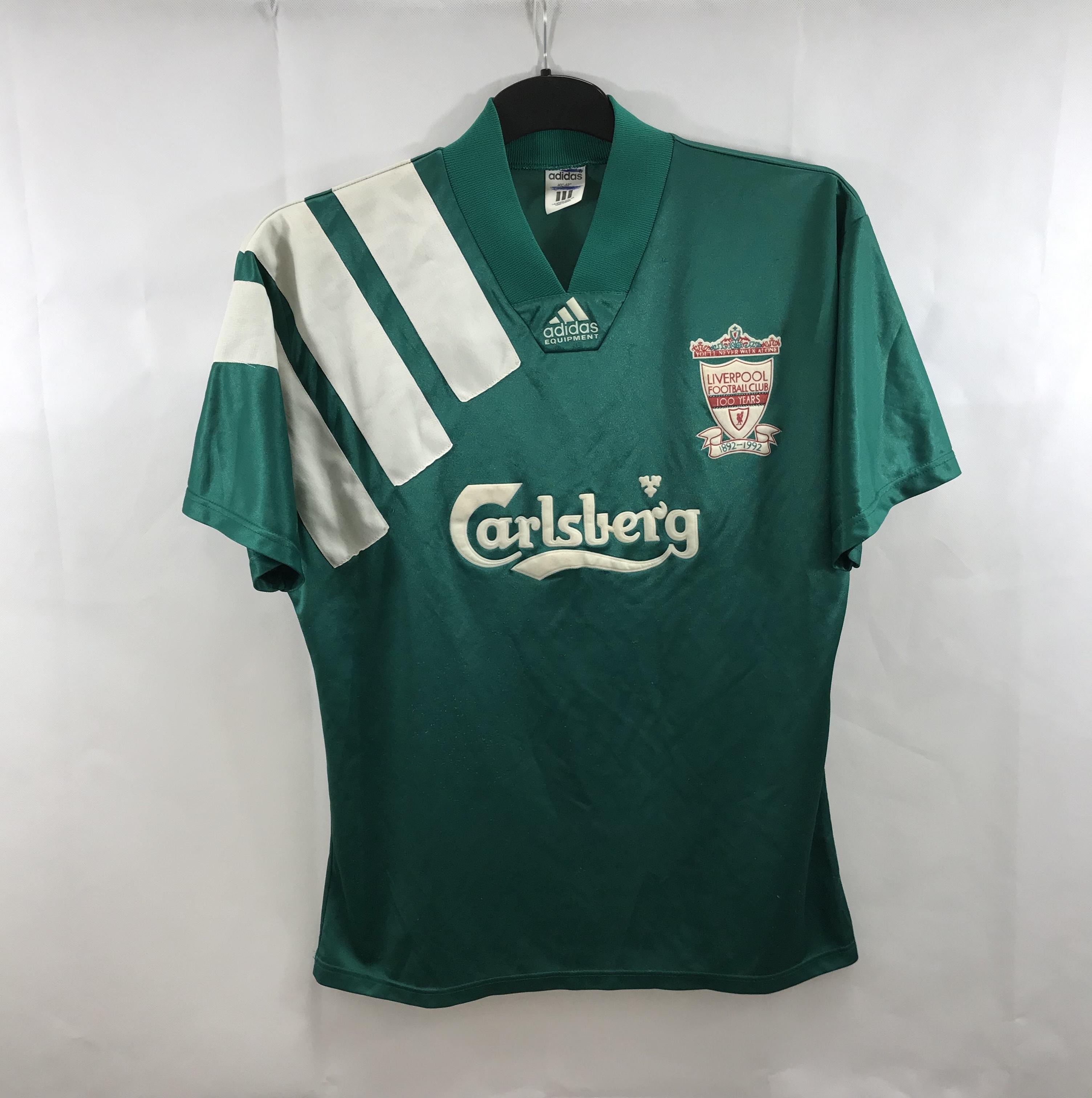 Liverpool Centenary Away Football Shirt 199293 Adults MediumLarge Adidas