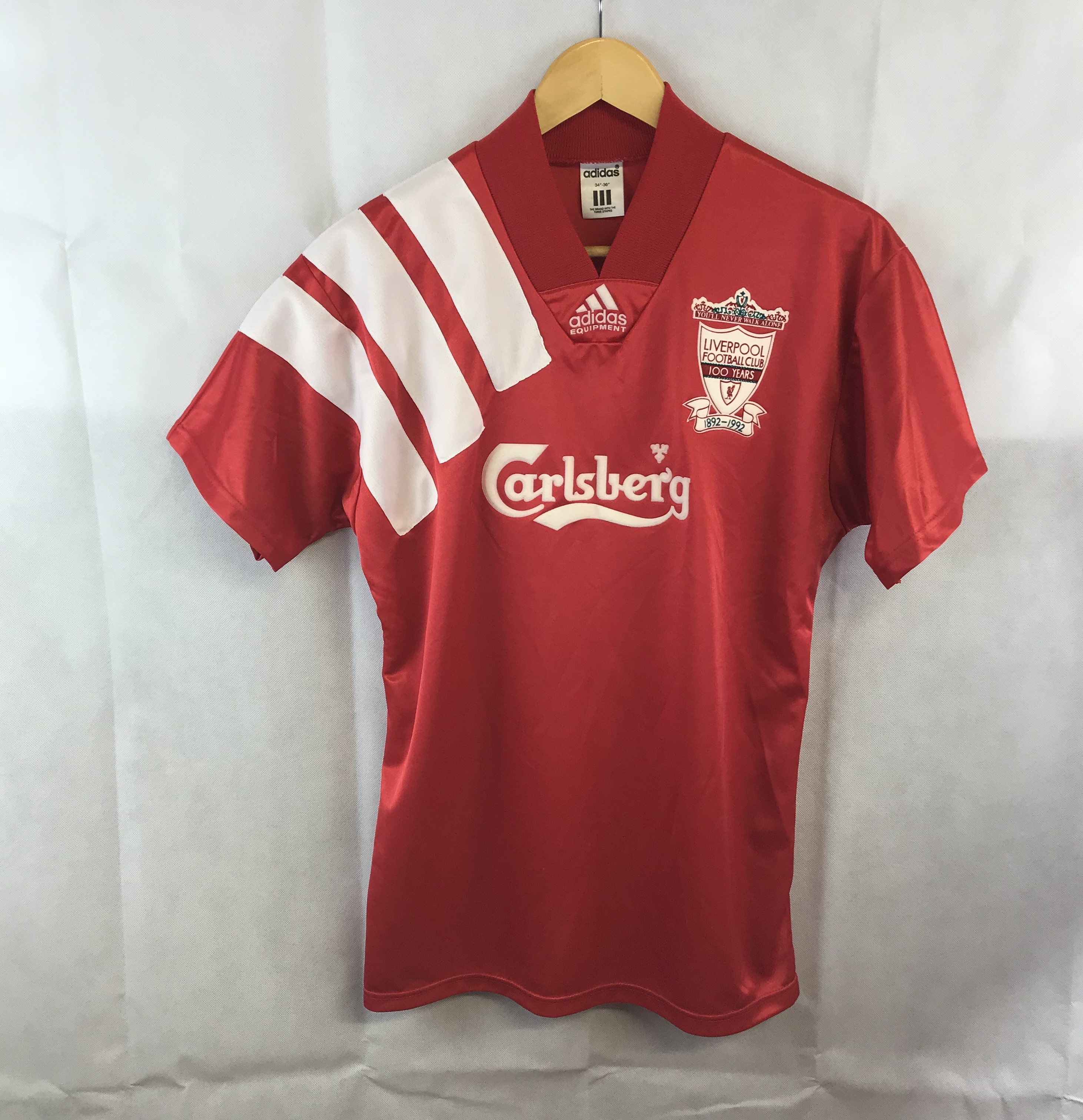 a0967fb94 Liverpool Centenary Home Football Shirt 1992 93 Adults Small Adidas. 🔍.  instock