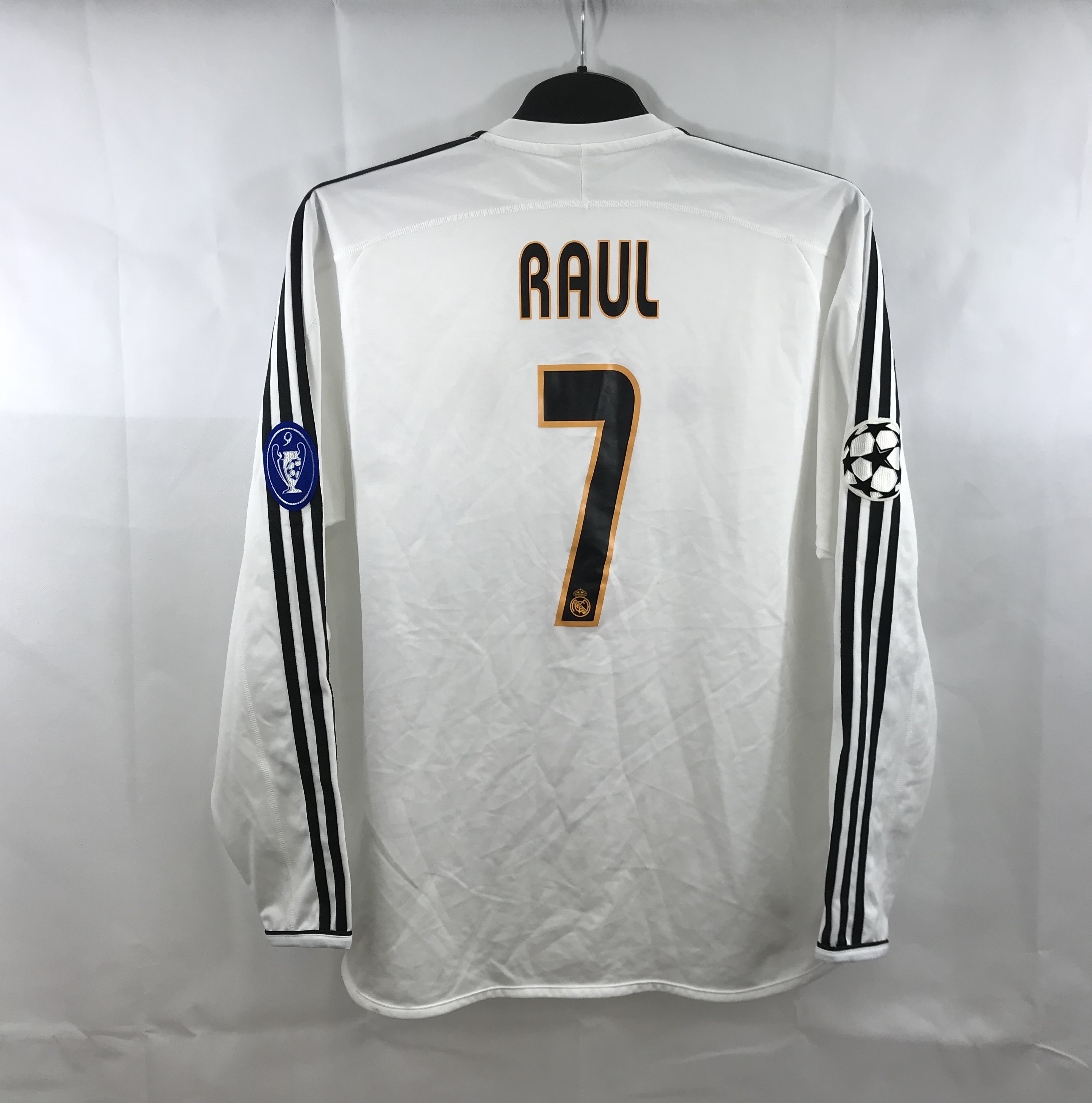 purchase cheap 993d3 5512f Real Madrid Raul 7 L/S Home Football Shirt 2003/04 Adults Medium Adidas