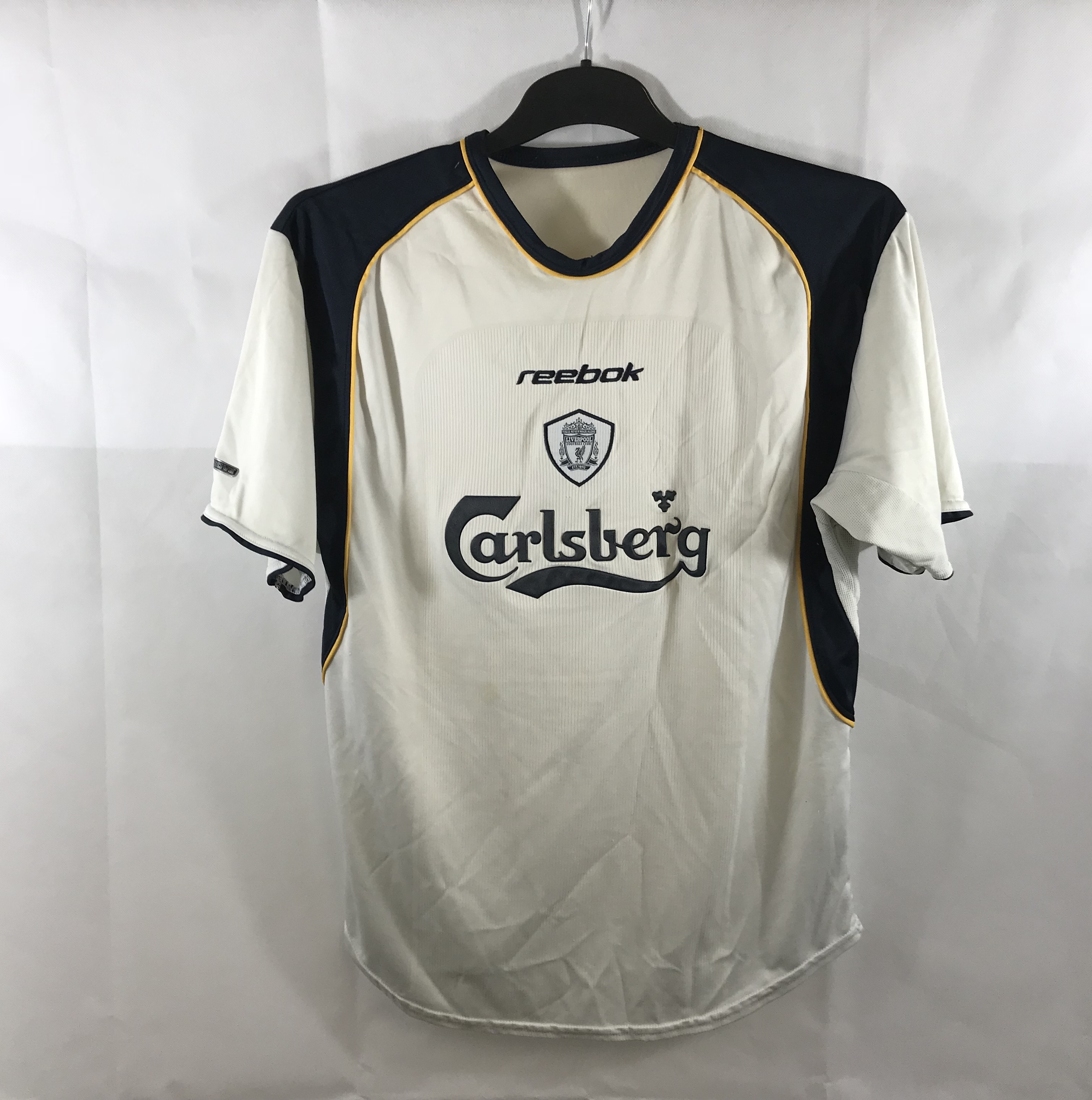 d0a5da98499 Liverpool Away Football Shirt 2001 03 Adults Medium Reebok ...
