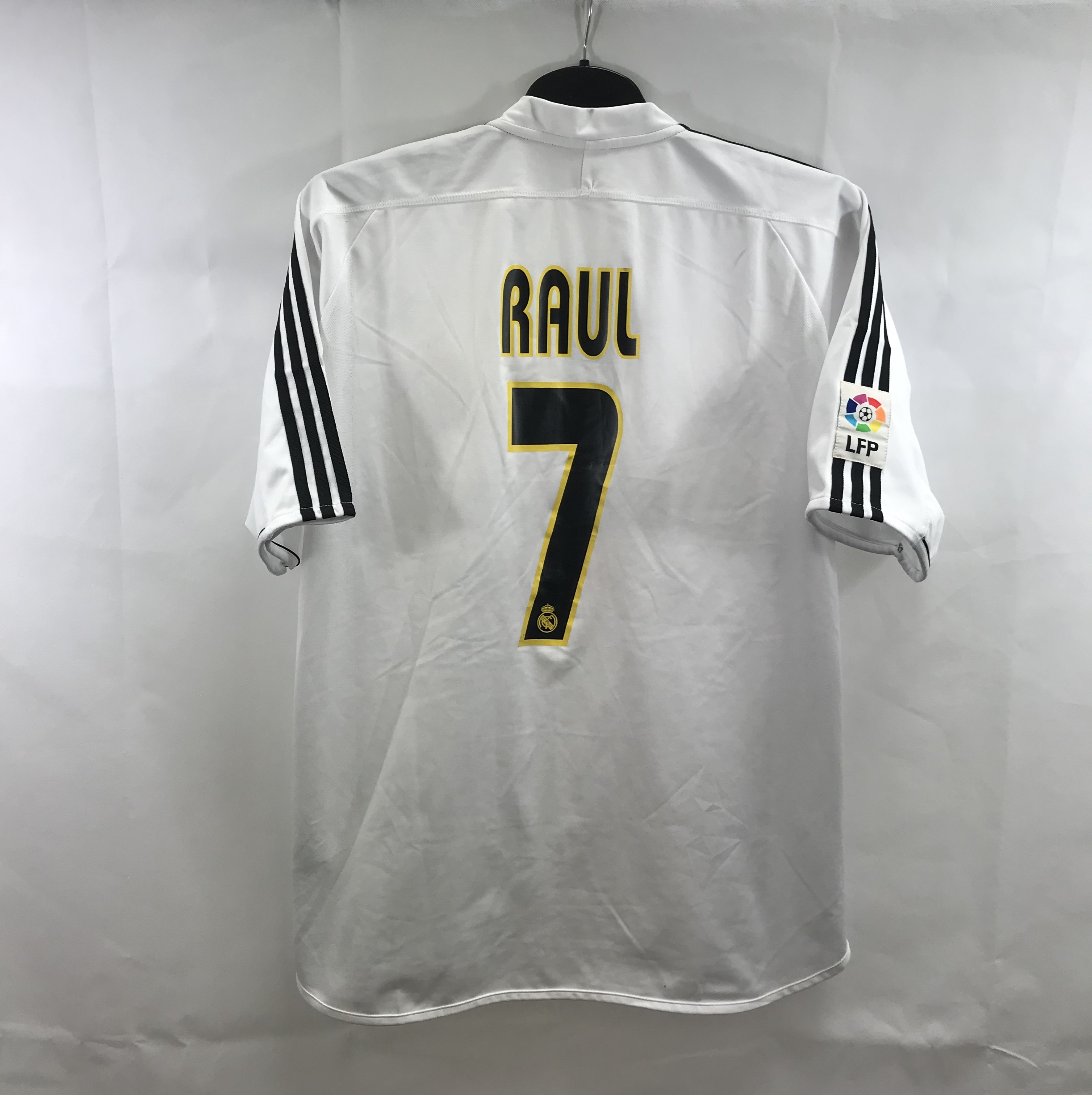 new concept ef6eb 9779b Real Madrid Raul 7 Home Football Shirt 2003/04 Adults XL Adidas