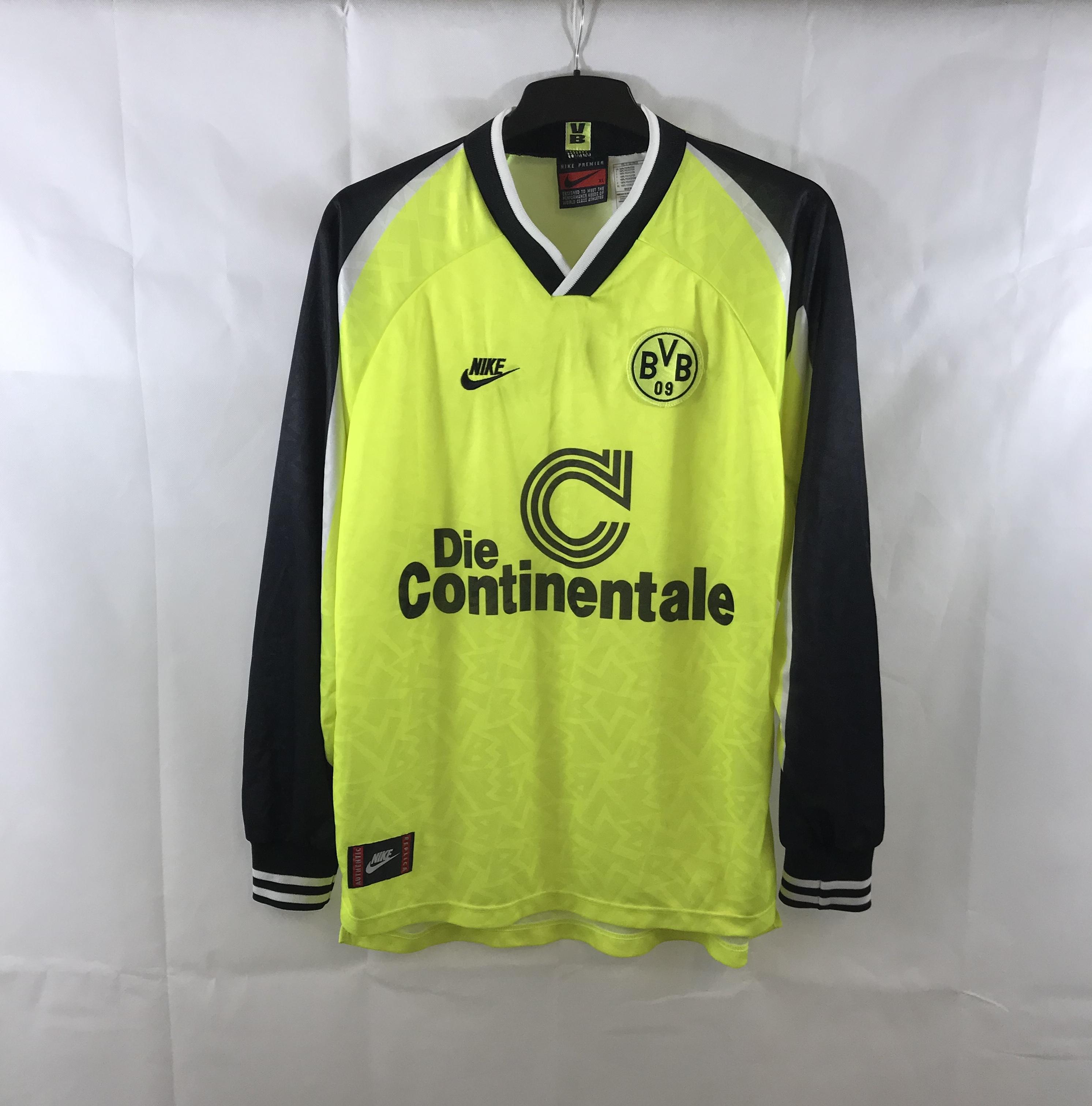 cobertura Generador Post impresionismo  Borussia Dortmund L/S Home Football Shirt 1995/96 Adults XL Nike A697 –  Historic Football Shirts