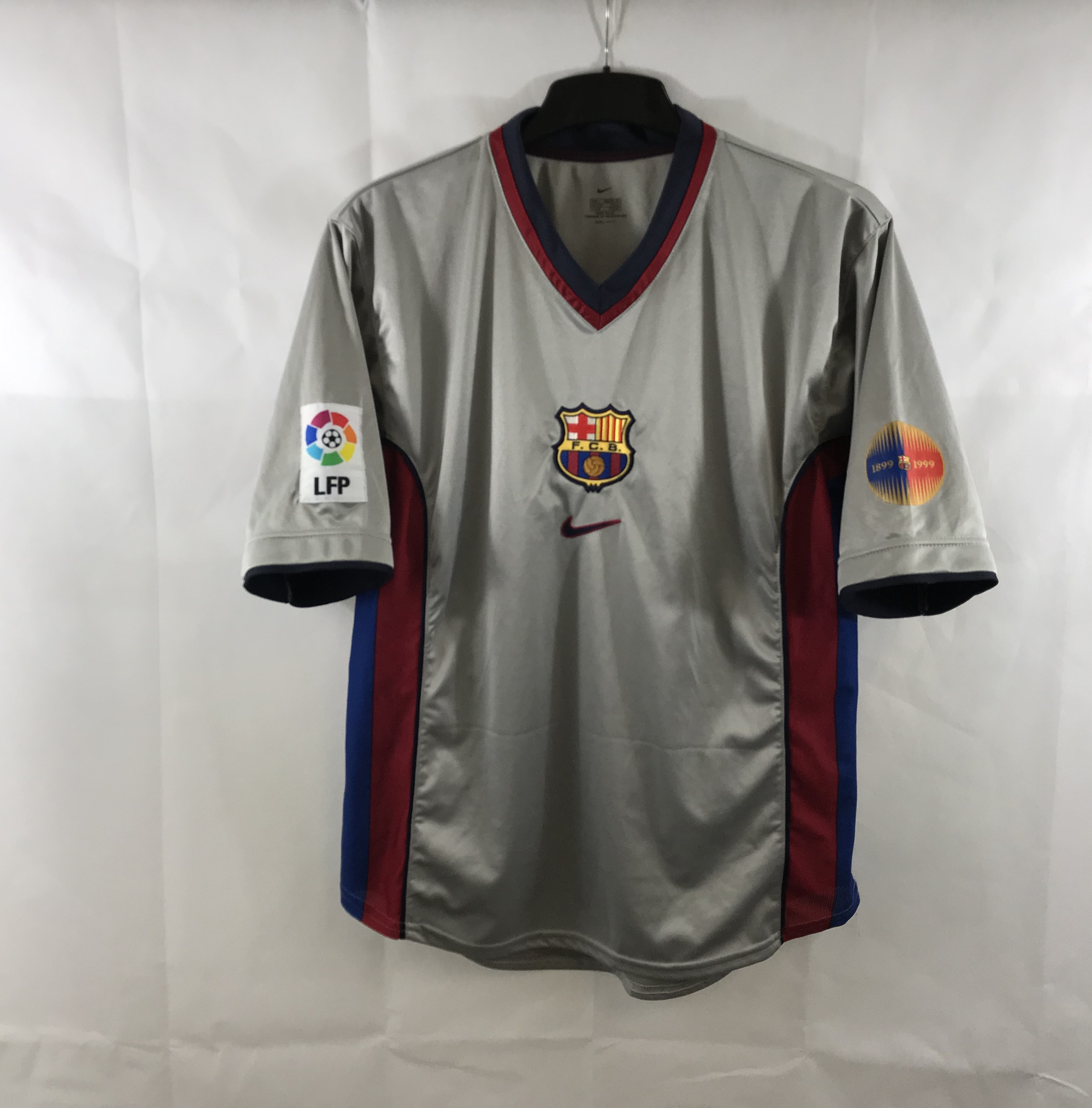 new styles 709be 7558f Barcelona Centenary Away Football Shirt 1999/00 Adults Large Nike