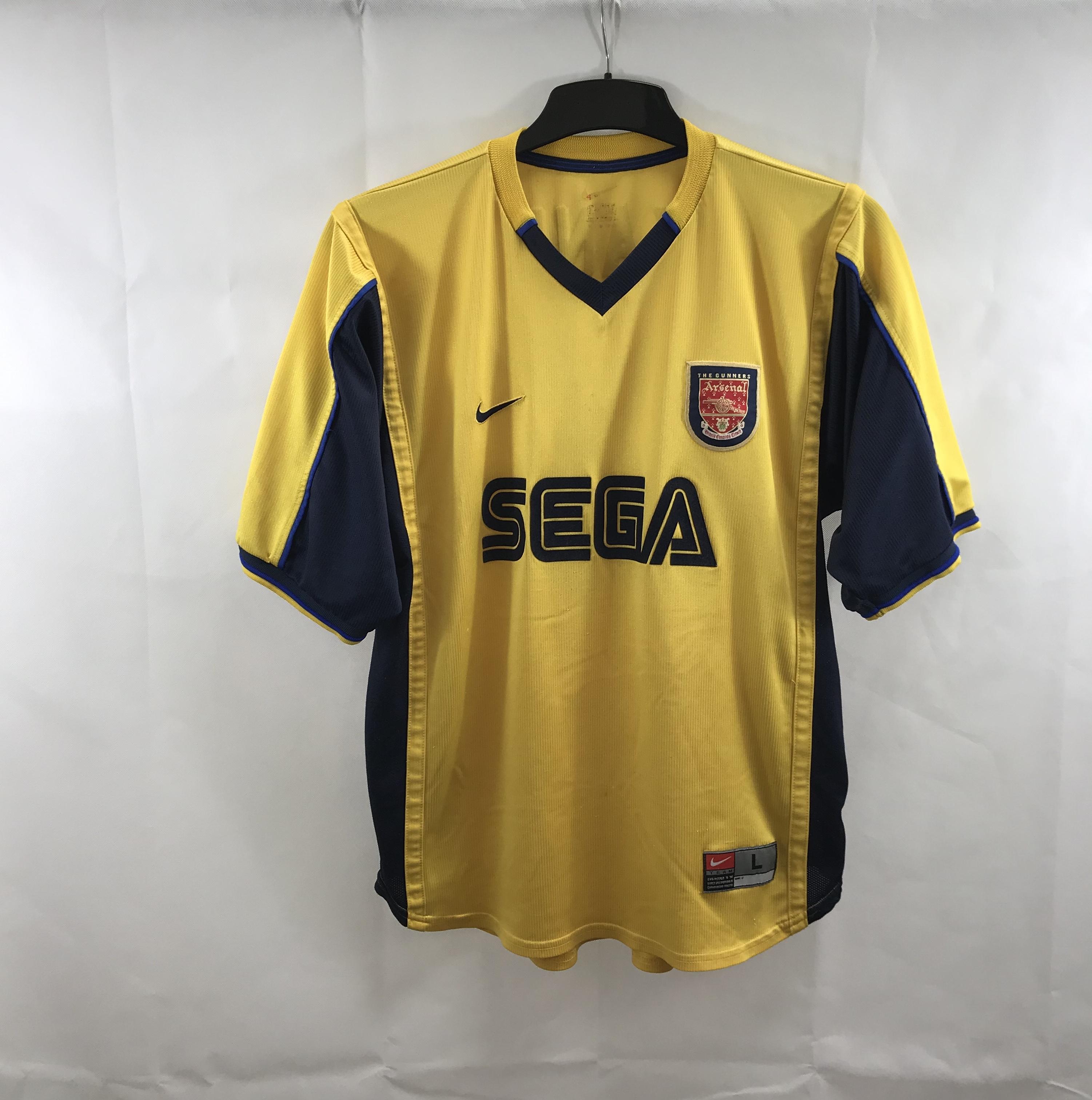 cheap for discount 625b0 63ecf Arsenal Kanu 25 Away Football Shirt 1999/01 Adults Large Nike