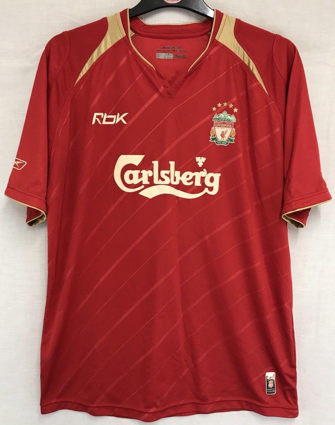 the best attitude 2a5a5 23a20 Liverpool Jamie Carragher 23 CL Football Shirt 2005/06 Adults Large Reebok