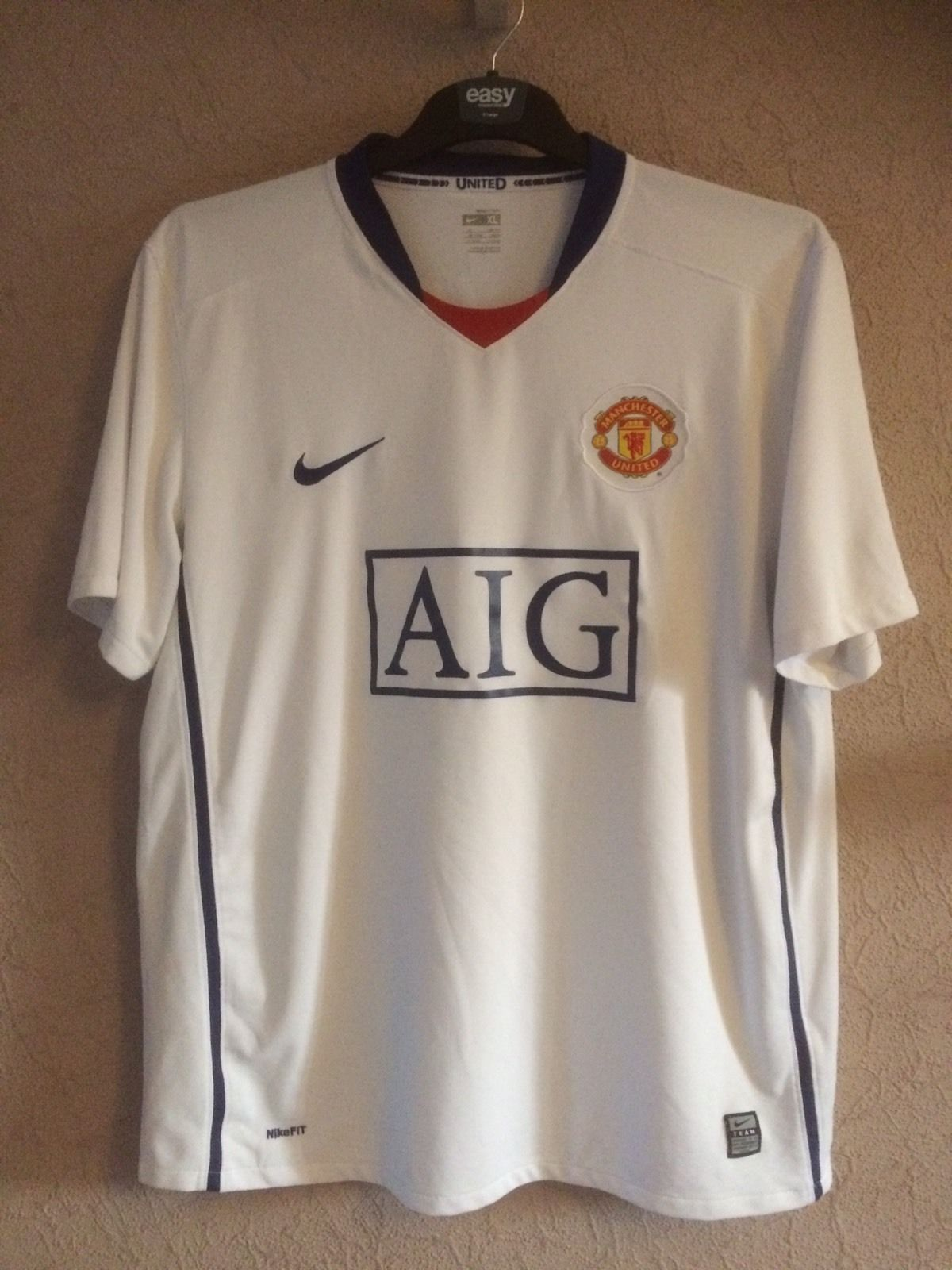 super popular a0176 248f2 Manchester United Carlos Tevez 32 Football Shirt 2008/09 Adults XL Nike